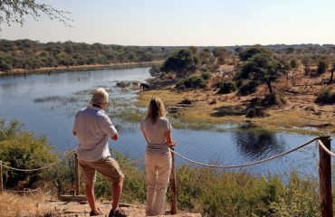 38Meno a Kwena - View from camp over the river