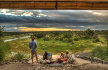 8Meno a Kwena - Veranda View over Makgadikgadi National Park