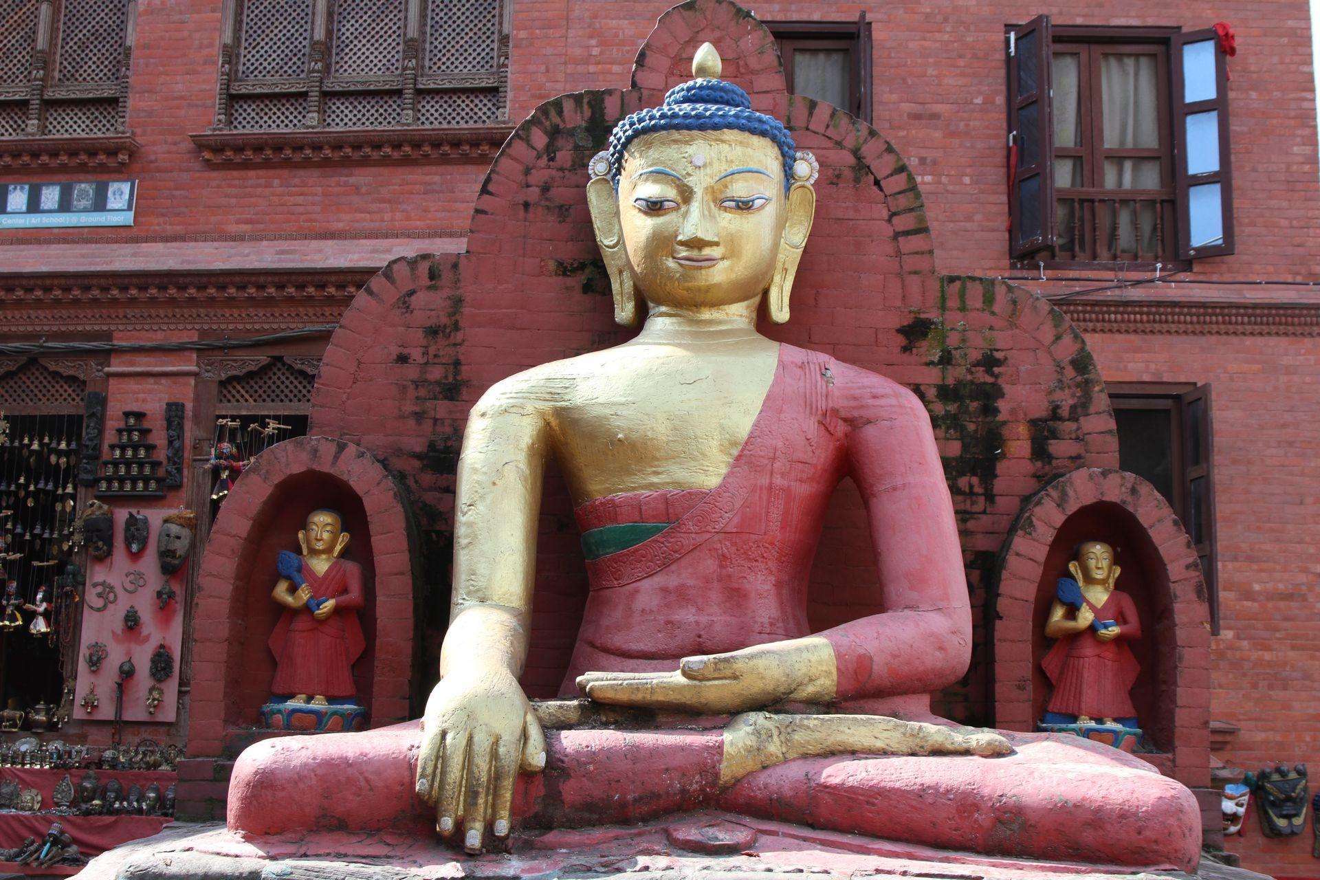 Posąg-Buddy-Swoyambhunath-Nepal-