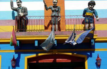 Statutes_of_Gardel_-_Peron_-_Maradona_in_La_Boca_-_Buenos_Aires_-_Argentina