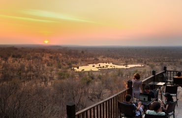 Victoria Falls Safari Lodge waterhole view