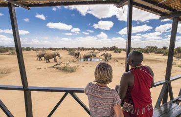 Elephant pond near Porini Camp, Amboseli, Kenya.
