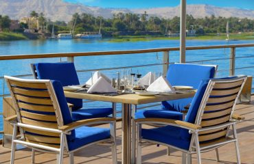 Lunch on the top deck - The Oberoi Zahra, Luxury Nile Cruiser, Egypt