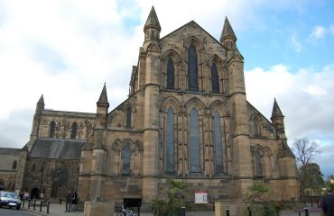 Hexham Abbey by Stevenfruitsmaak PD wikimedia